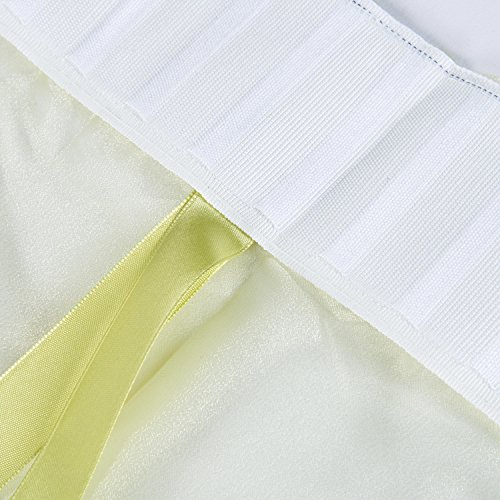 Best Dragonfly Embroidery Polyester Tie-Up Window Shade Balcony Window Drape Panel Scarf Valances Curtain Light Green 33''W x 57''H by Comforbed (Image #9)