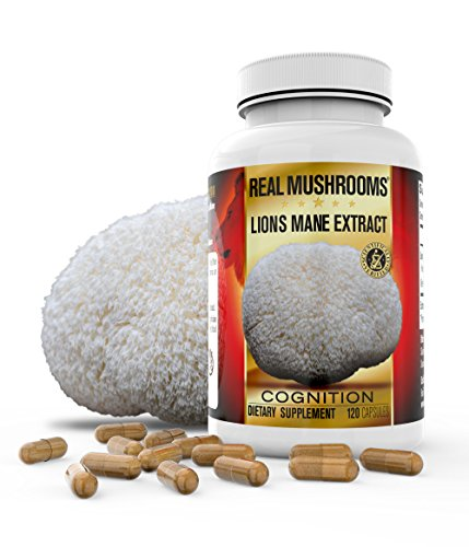 Organic Lions Mane Mushroom Capsules by Real Mushrooms - 120 Capsules of Extract Powder