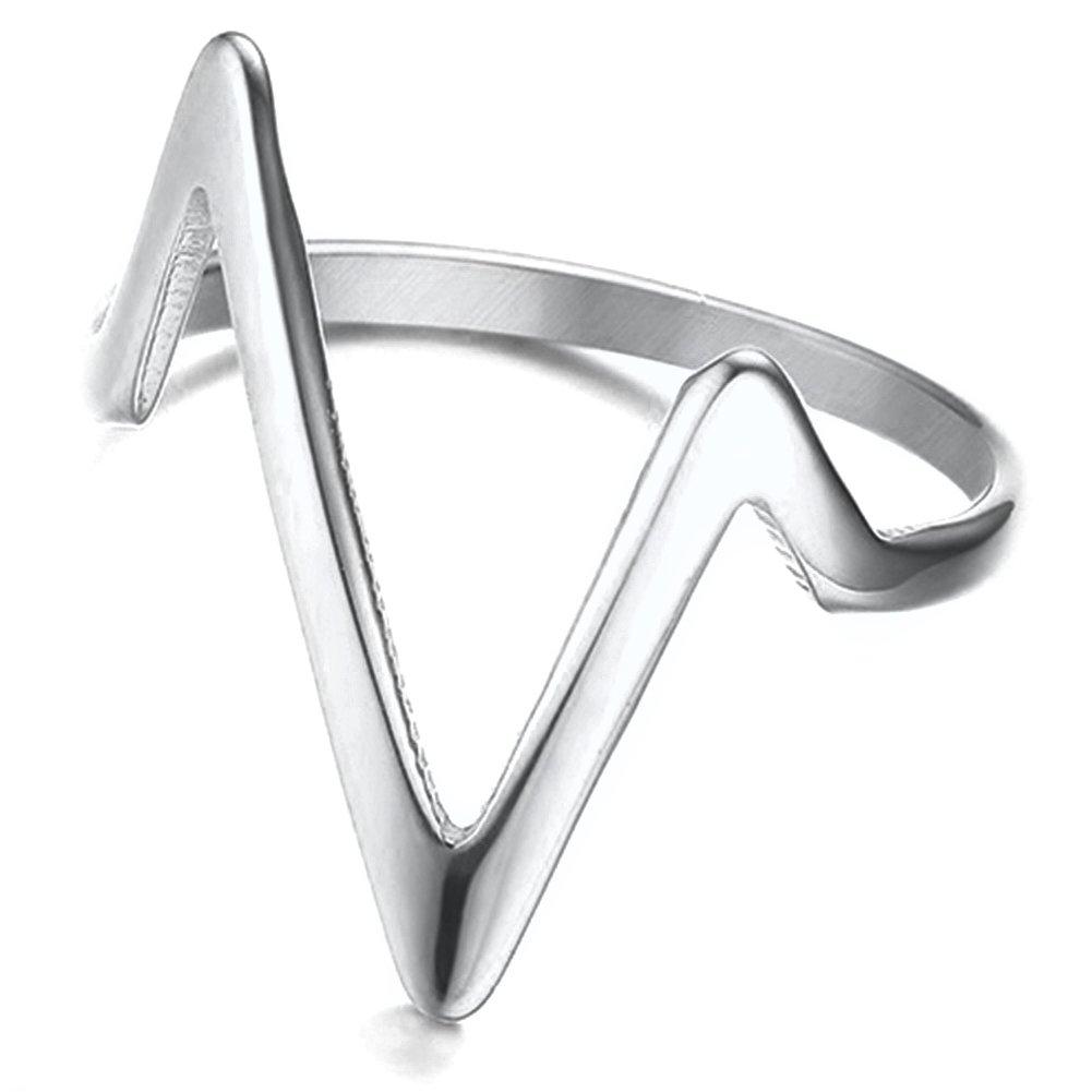Jude Jewelers Stainless Steel Chevron Ring Statement Promise Anniversary Ring 1J53