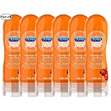 Durex Lubricant, Play Massage 2 in 1 Lube, Enhancing Guarana Extract, 200 ml (Pack of 6)