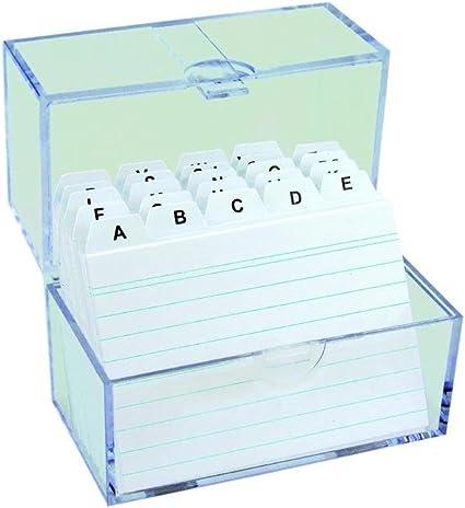 6 x fichero (/Aprendizaje Caja DIN A7 & 100 tarjetas + indizado de la a a la Z: Amazon.es: Oficina y papelería