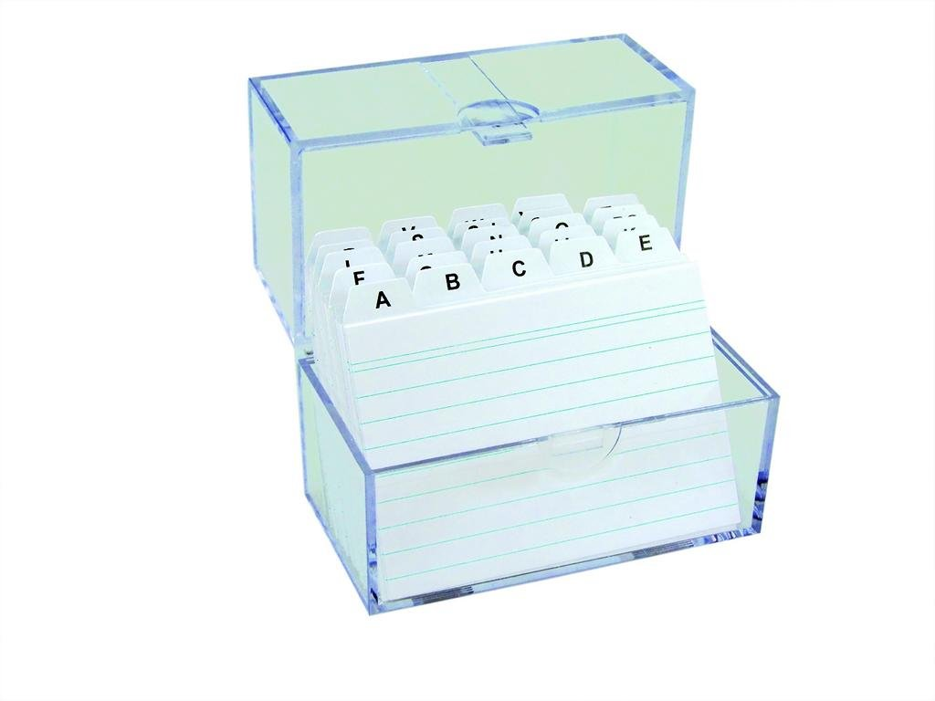 3X schedario/apprendimento Box DIN A7& 100cartoncini + separatore a–Z TSI