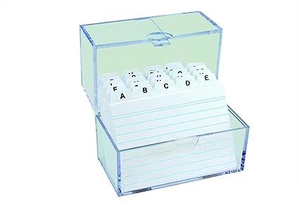 Register A-Z 6x Karteikasten Lernbox DIN A8 /& 100 Karteikarten