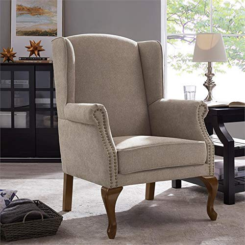 - Comfort Pointe Lorell Wingback Arm Chair - Oatmeal