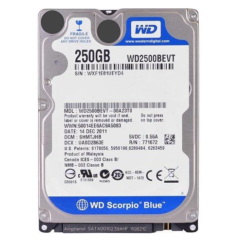 """Western Digital Scorpio Blue 250GB SATA/300 5400RPM 8MB 2.5"""""""