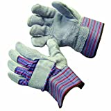 Bon 84-369 Leather Palm Work Gloves with Safety Cuff, Large, 12-Pair