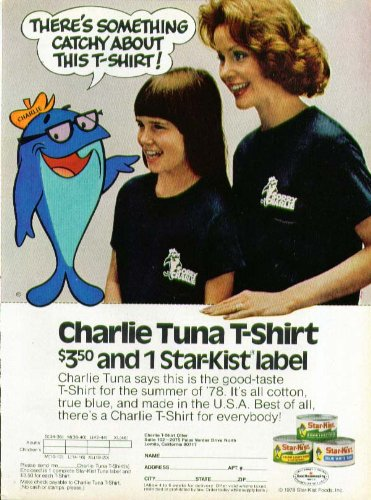 charlie-tuna-t-shirt-offer-star-kist-ad-1978