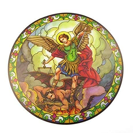 ST. Michael cairel de vidriera de iglesia pegatina para luna ...