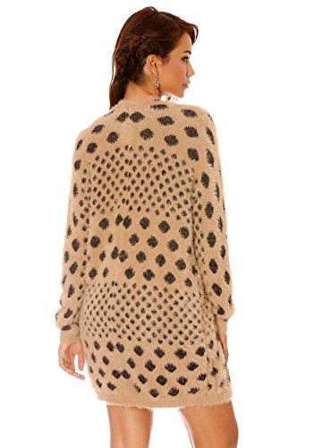 dmarkevous - Cárdigan - para mujer marrón claro