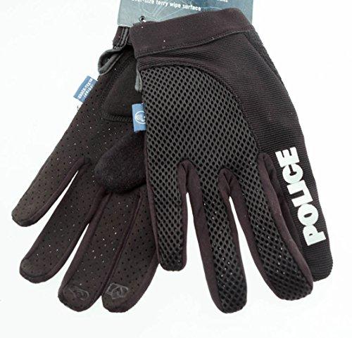 (SPENCO POLICE X-Small Cycling Black Bike Padded Full Finger Gloves NEW)