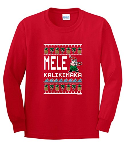 Santa Ugly Christmas Sweater Mele Kalikimaka Hawaiian Christmas