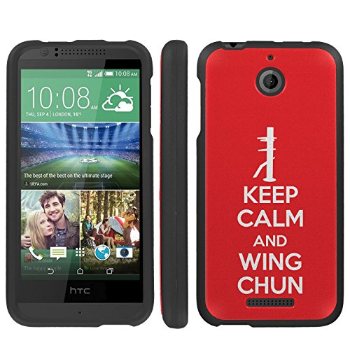 - Mobiflare, Slim Guard Armor Design Case, for [HTC Desire 510] - Keep Calm and Wing Chun