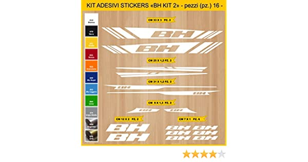 Kit Pegatinas Stickers Bicicleta BH - Kit 2-16 Piezas- Bike Cycle ...