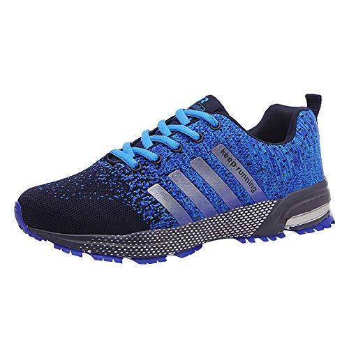 y Zapatillas de a Casual Kivors Gimnasio Deportes Libre Correr Zapatos Unisex para de Montaña Zapatos Correr Aire Azul AsfaltoTranspirables Deporte 7HEEIw