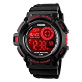 LIGE Mens Military Digital Sport Watches, 7 Colors Backlight Electronic Led Waterproof Wrist Watch