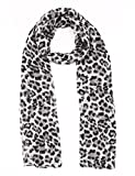 Chiffon Scarfs For Women Classic Leopard Lightweight Fashion Soft Large Shawl Wrap Print Long Head Scarfs By J'Mysticon