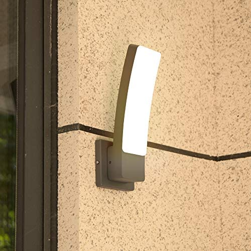 LUTEC KIRA Indoor Outdoor Modern LED Wall Sconce Decor 17W Warm White 3000K 1200LM Exterior Light Fixtures Wall Mount Porch lamp