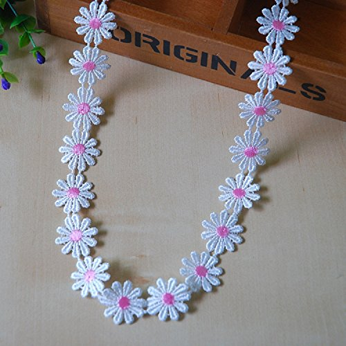Mandydov 10 yard DIY Daisy Sun Flower Patten Decorating Lace and Trims for Sewing - Daisy Trim