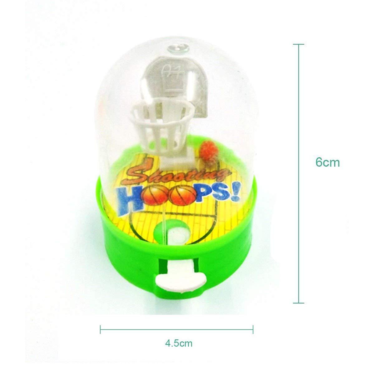 Ulikey Mini Baloncesto de Mesa Juego de Disparos, Mini Juguetes de Mano de Juego de Baloncesto Mini Baloncesto para Niños (Color Aleatorio)
