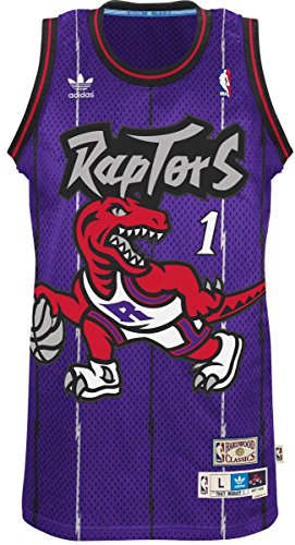 Adidas Men's Toronto Raptors NBA Tracy McGrady Swingman Jersey Purple Small