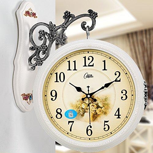 北欧両面時計 おしゃれ壁掛け時計 静かウォールクロック 2色選べる B01CTXH8L4 45*30cm|B B 45*30cm