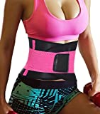 Women Sauna Belt ,Waist Trainer Weight Loss Wrap Tummy Control Shapewear (2XL, Rose Red)