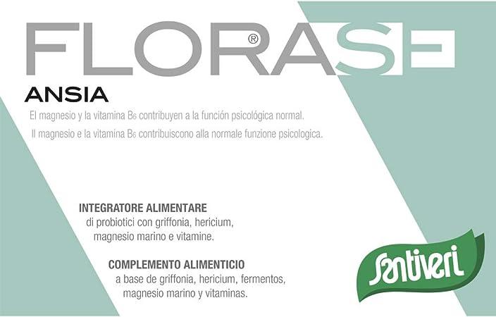Florase Ansia de Santiveri: Complemento Alimenticio con Magnesio y Vitamina B6 - 40 Cápsulas: Amazon.es: Salud y cuidado personal