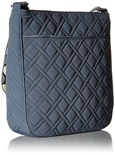 Mailbag Vera Double Bradley Zip Charcoal Microfiber PxwTqU6