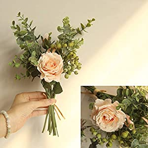 Wedding Decoration, LtrottedJ Range Rose Hydrangea Flowers Bouquet Bunch Home Wedding Party Gift Deco 95