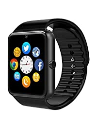 GT08 Smart Watch Bluetooth Smart Watch with Camera /Pedometer Analysis/Sleep Monitoring for Android (Full Functions) and IOS (Partial Functions) (balck)