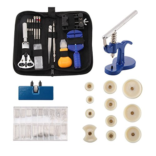 Watch Repair Kit Tool Set - Deluxe 409 PCS Watchmaker Tools Back Case Opener Watch Band Link Pins