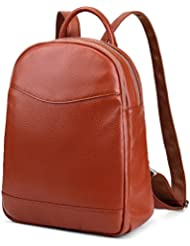 Coolcy Genuine Leather Backpack for Women Hotstyle Casual Bookbags