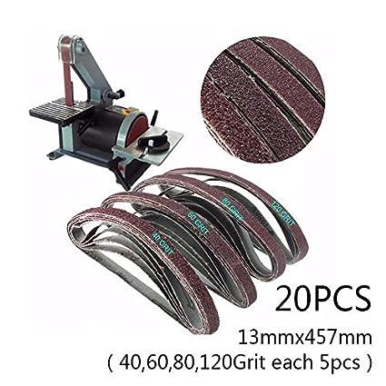 20x1.3*45.7cm Fine Grit Sanding Belt Sandpaper Sander Abrasive Band Strap Set Uk Tools