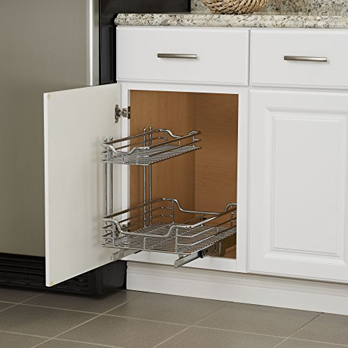 Under Sink Shelf Shelves That Slide Cabinet Pull Out: Household Essentials C26512-1 Glidez Under Sink Sliding