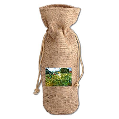 - Marguerite Gachet In Garden #2 (Van Gogh) Jute Burlap Burlap Wine Drawstring Bag