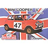 Red Mini Cooper S, Metal Tin Sign, Vintage Style Wall Ornament Coffee & Bar Decor, 20 X 30 Cm.
