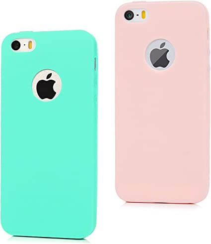 2x Coque iPhone SE / iPhone 5S / iPhone 5 Transparente Housse en ...