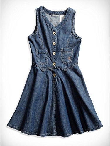 GUESS Kids Little Girl Sleeveless Denim Dress (2-6x)