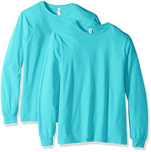 - Fruit of the Loom Men's Long Sleeve T-Shirt (2 Pack), Scuba Blue, XX-Large