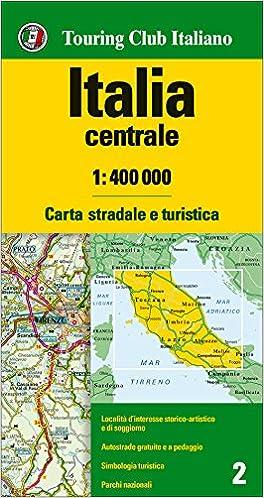 Cartina Turistica Italia.Amazon It Italia Centrale 1 400 000 Carta Stradale E Turistica Aa Vv Libri