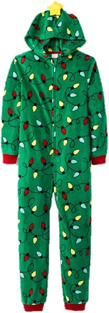 Cat /& Jack Girls Boys Christmas Tree Union Suit Size 12 Green