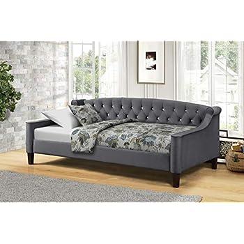Amazon.com: Cama nido de tela con trineo, color gris o crema ...