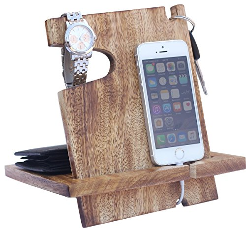 AB Handictafts - Mango Wooden Android Docking Station, 50th Anniversary Gifts for Couple , Funny Fathers Day Gifts, iPhone 6s plus, 6s, 6 plus, 6, 5, 5s, 4, Samsung Galaxy - Price India Best