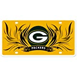 Green Bay Packers Flame License Styrene NFL Plate Car Sign Tag Officially Licensed NFL Merchandise