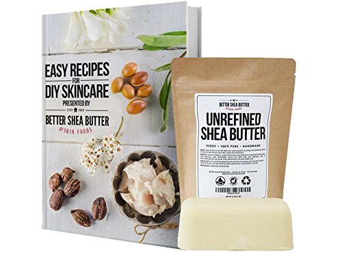 Large Product Image of Unrefined Ivory Shea Butter - Raw, 100% Pure, from West Africa - Moisturizing for Dry, Cracked Skin and Eczema - Use on Body, Face and Hair and in DIY Skin Care Recipes - 16 oz by Better Shea Butter