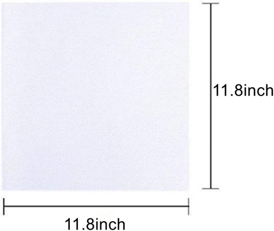12 by 12-Inch White 5 Pieces Cross Stitching Cloth 14 Count Aida Cloth Fabric Cross Stitch Cloth for DIY Embroidery Needlework Sewing Handcraft