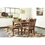 Signature Design by Ashley D586-25 Shallibay Collection Dining Room Table, Medium Brown