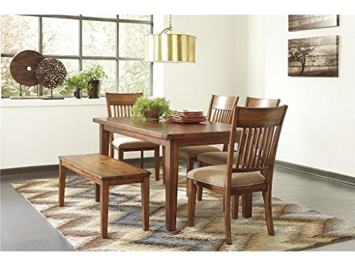 ashley furniture signature design shallibay dining room table medium brown