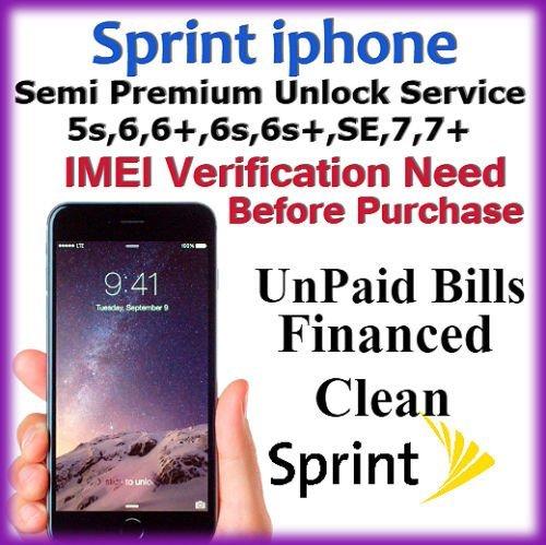 FACTORY UNLOCK USA SPRINT iphone 6,6+,6S,6S+(Premium Service)
