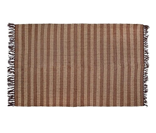 NATURAL FURNISH Woolen & Jute Rug Standard Multicolor